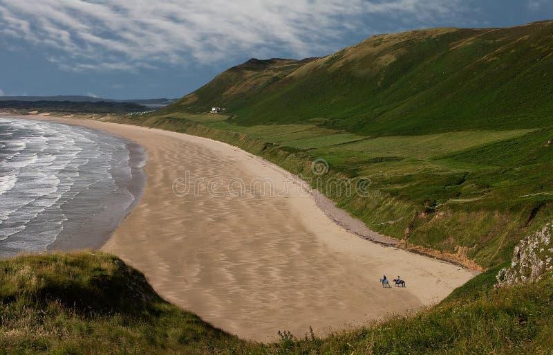 Playa de Rhossili foto de archivo libre de regalías
