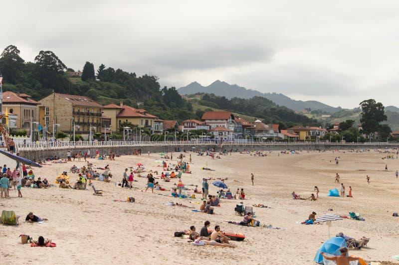 Playa de Ribadesella fotografía de archivo libre de regalías