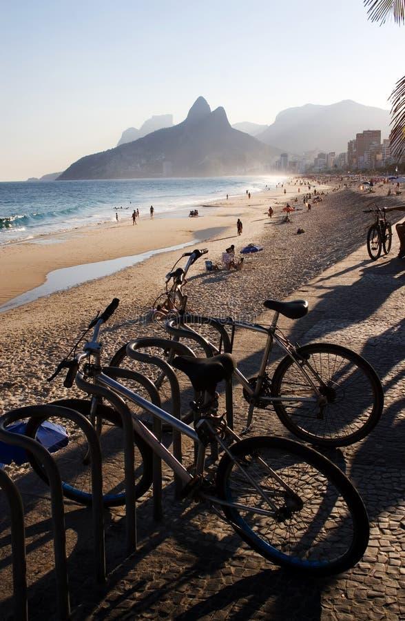 Playa de Rio de Janeiro Ipanema imagenes de archivo