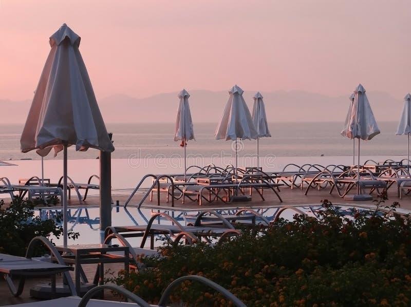 Playa de Rodas después de la puesta del sol fotos de archivo libres de regalías