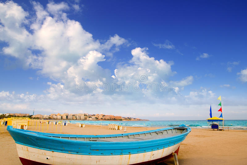 Playa de Salou en Tarragona Cataluña España imagen de archivo