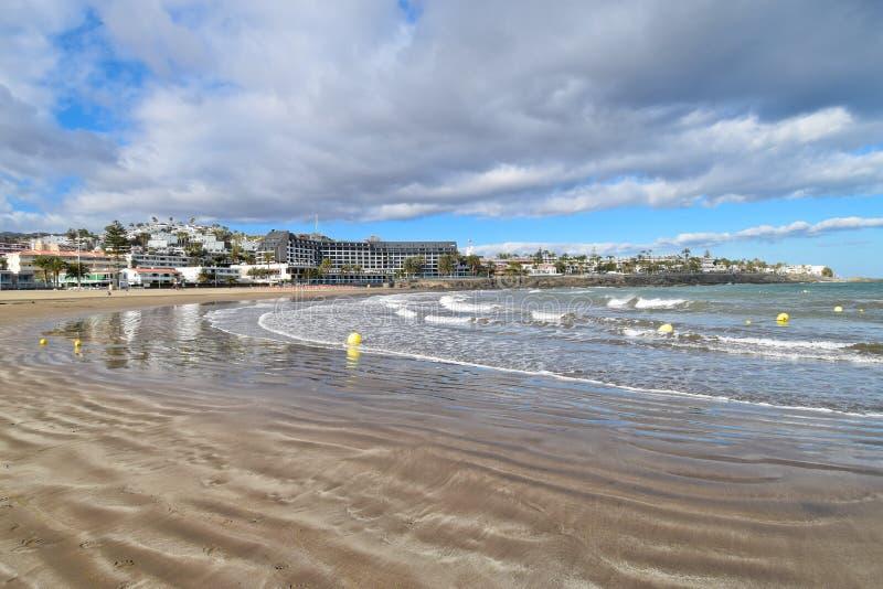 Playa DE San Augustin Beach, Gran Canaria royalty-vrije stock afbeeldingen