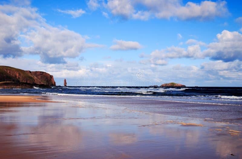 Playa de Sandwood imagen de archivo libre de regalías