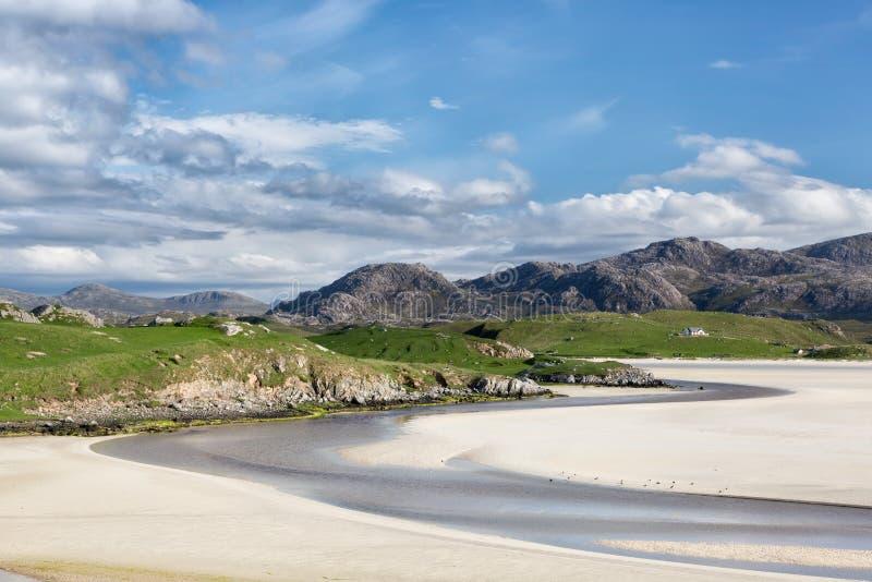 Playa de Sandy de Uig en Lewis foto de archivo libre de regalías