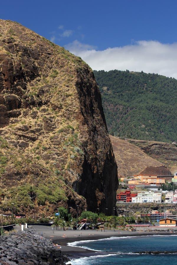 Playa de Santa Cruz de La Palma (islas Canarias) foto de archivo libre de regalías