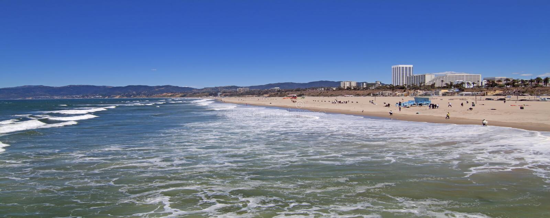Playa de Santa Mónica fotografía de archivo libre de regalías