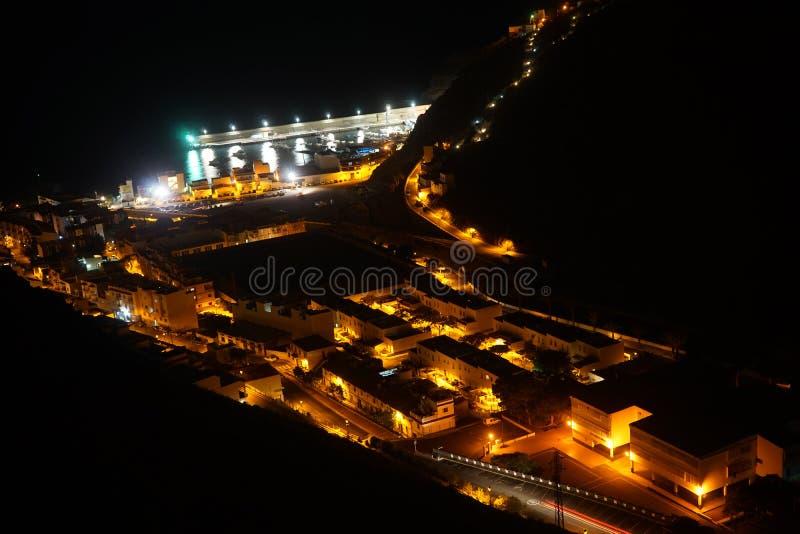 Playa de Santiago. Playa de Santiag at night on the La Gomera island, Spain royalty free stock images