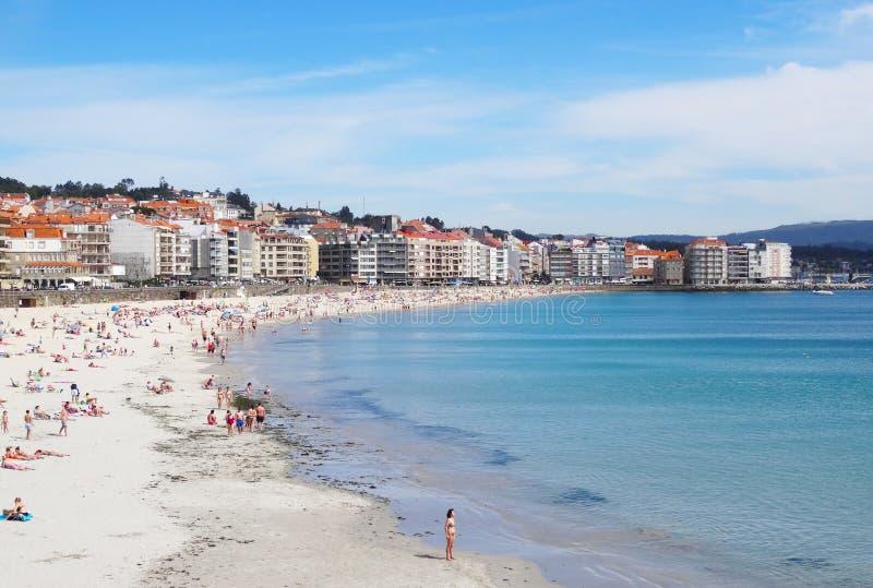 Playa de Sanxenxo - España del norte fotografía de archivo