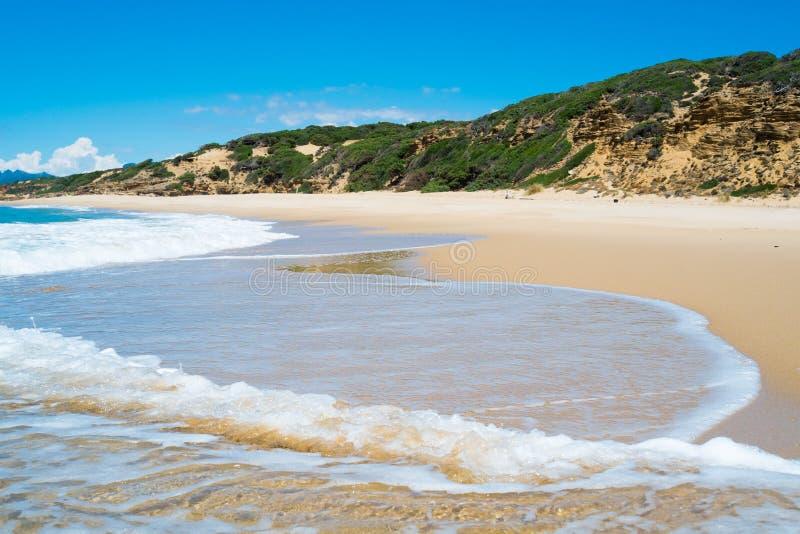 Playa de Scivu fotos de archivo