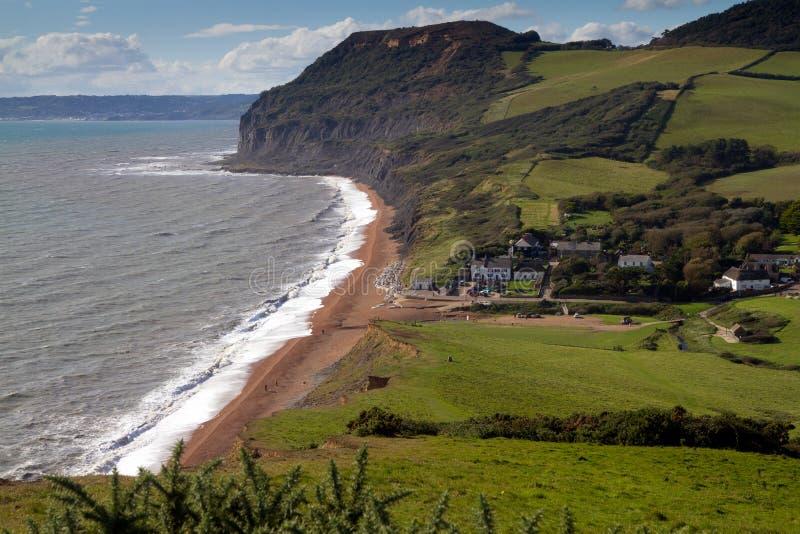 Playa de Seatown en Dorset imagen de archivo libre de regalías