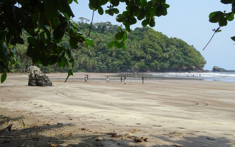 Playa de siete ondas, Sao Tome and Principe imagenes de archivo