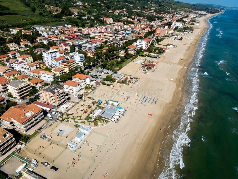 Playa de Silvi Marina fotografía de archivo libre de regalías