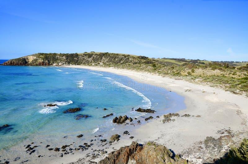 Playa de Snelling, isla del canguro imagen de archivo