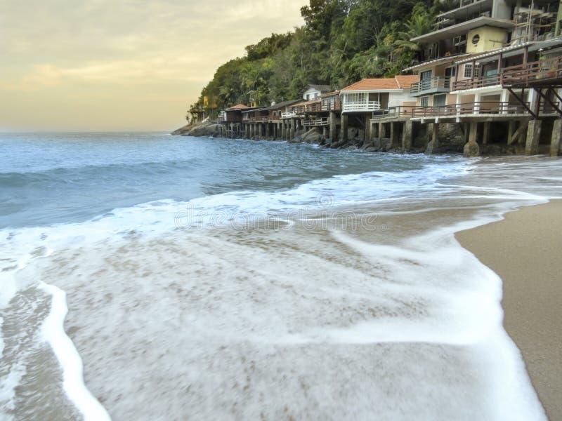 Playa de Sorocotuba en Guaruja, el Brasil fotos de archivo libres de regalías