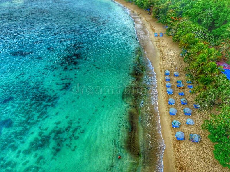 Playa de Sosúa foto de archivo libre de regalías