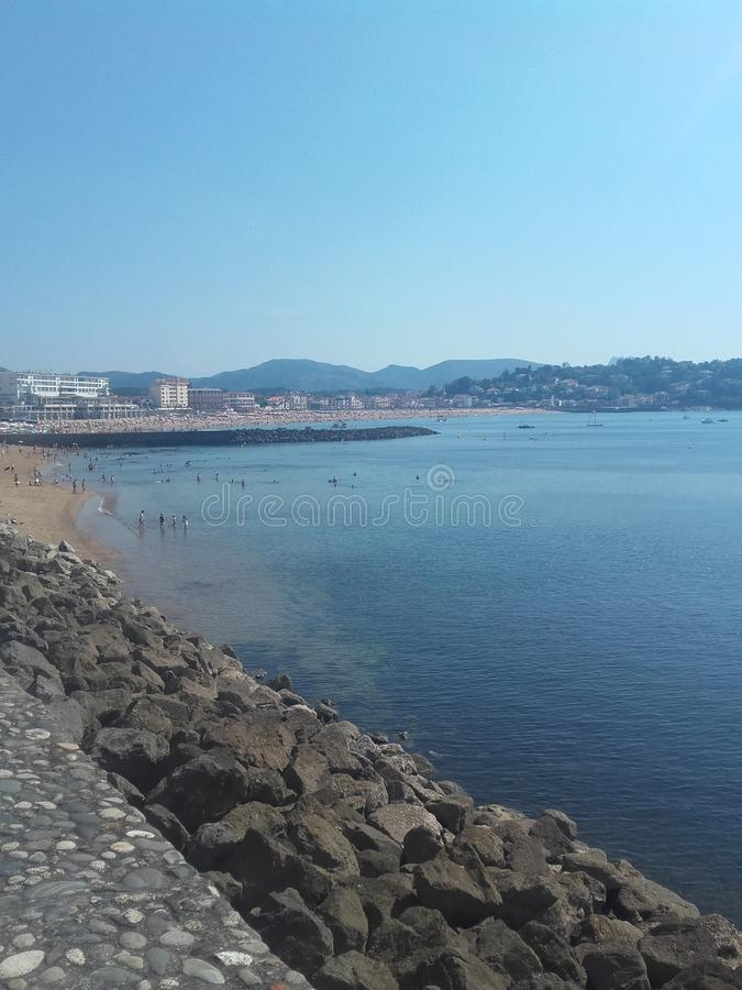 Playa de St Jean de Luz fotografía de archivo
