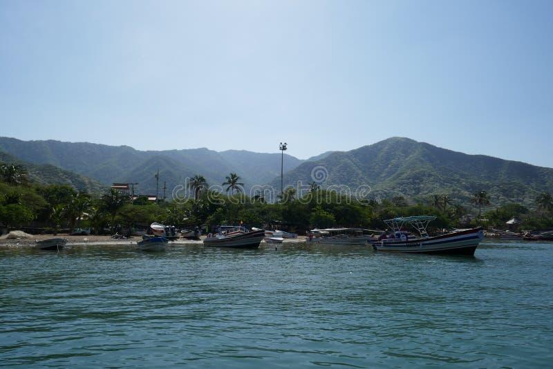 Playa de Taganga, Santa Marta royaltyfri foto