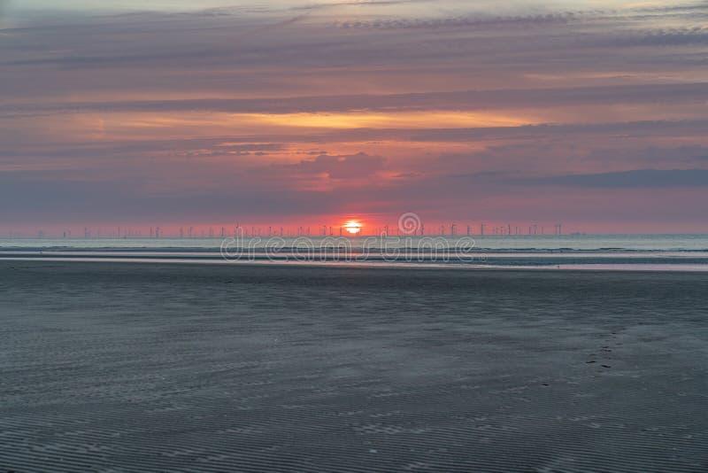 Playa de Talacre, Clwyd, País de Gales, Reino Unido foto de archivo