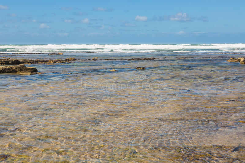 Playa de Tantan en el EL Ouatia, Marruecos fotografía de archivo