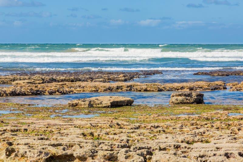 Playa de Tantan en el EL Ouatia, Marruecos imágenes de archivo libres de regalías