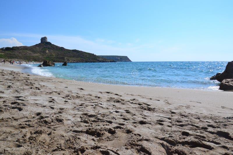 Playa de Tharros - Cerdeña, Italia fotografía de archivo
