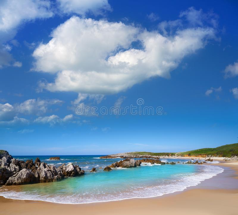 Playa de Toro beach in Llanes Asturias Spain. Playa de Toro beach in Llanes of Asturias Spain royalty free stock photos