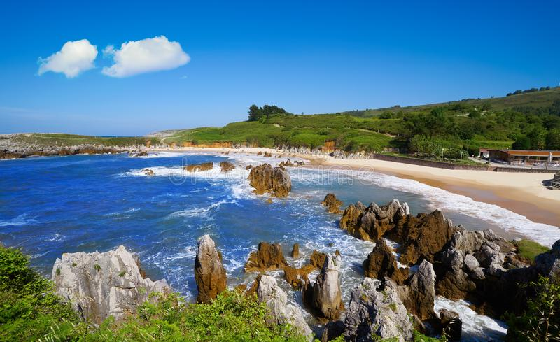 Playa de Toro beach in Llanes Asturias Spain. Playa de Toro beach in Llanes of Asturias Spain stock photos