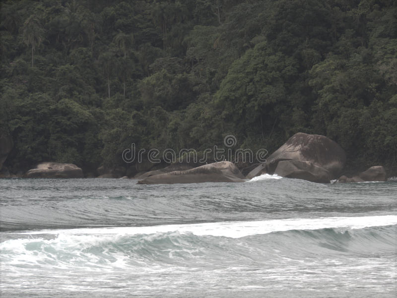 Playa de Trindade - Paraty fotografía de archivo libre de regalías