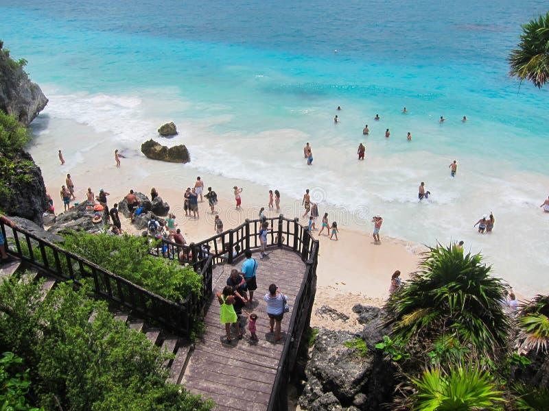 Playa de Tulum imágenes de archivo libres de regalías