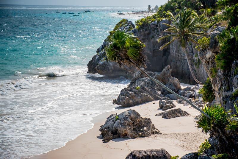 Playa de Tulum fotografía de archivo