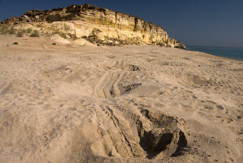 Playa de Turlte, Omán fotos de archivo