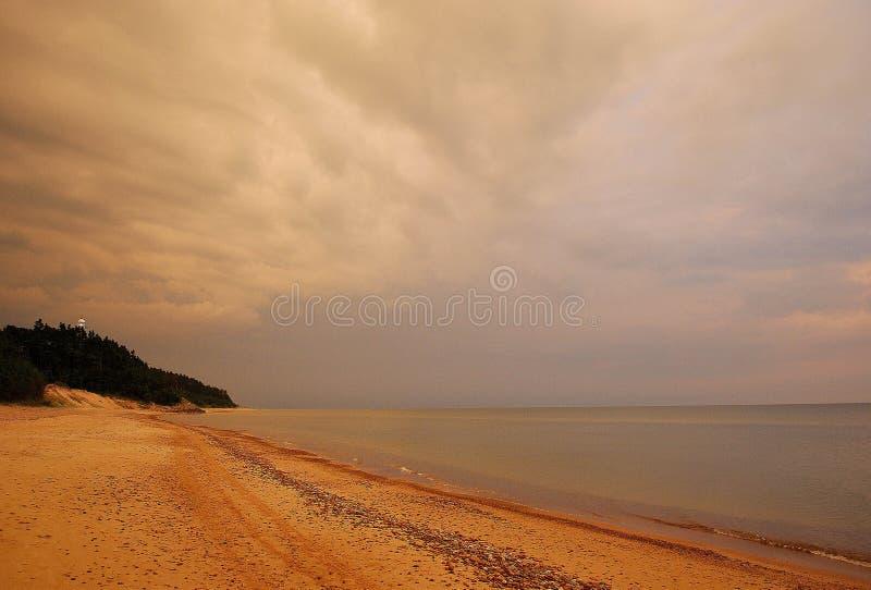 Playa de Uzava, Letonia imagen de archivo libre de regalías