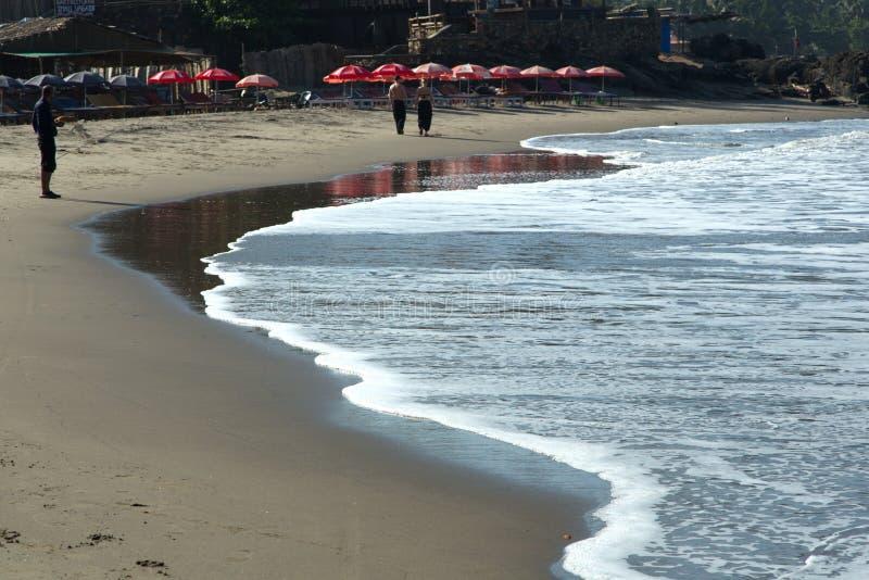 Playa de Vagator foto de archivo