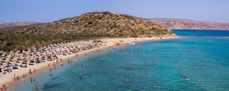 Playa de Vai en la isla de Creta foto de archivo