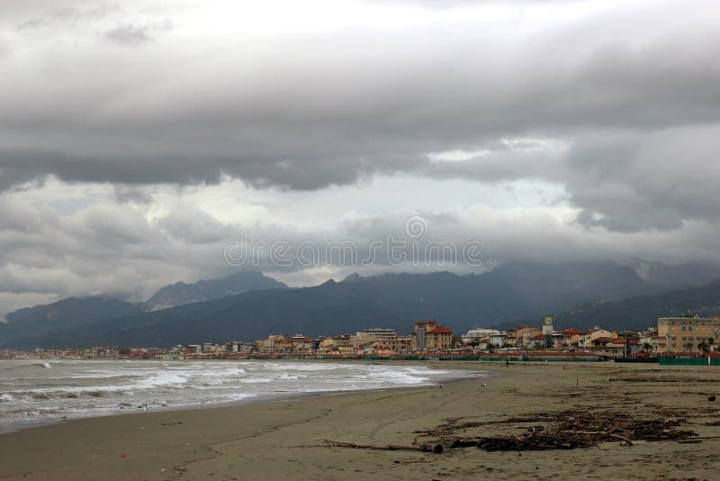 Playa de Viareggio imágenes de archivo libres de regalías