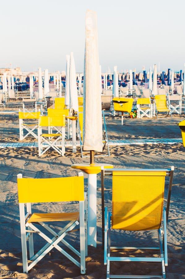 Playa de Viareggio, Italia, Toscana fotografía de archivo