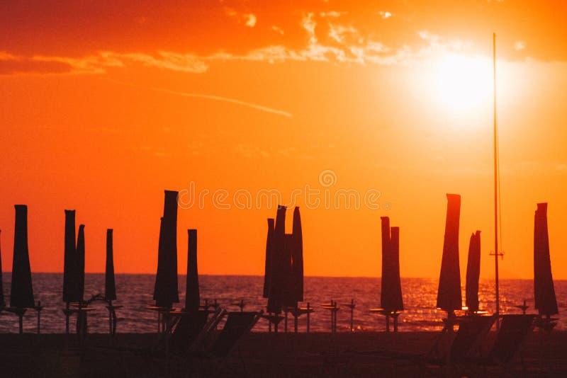 Playa de Viareggio, Italia, Toscana imagenes de archivo