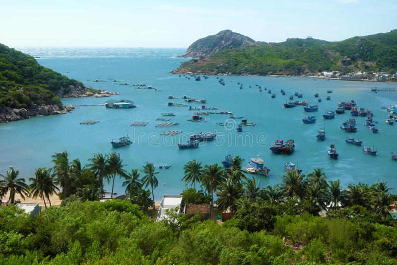 Playa de Vietnam, bahía de Vinh Hy, viaje de Vietnam imágenes de archivo libres de regalías