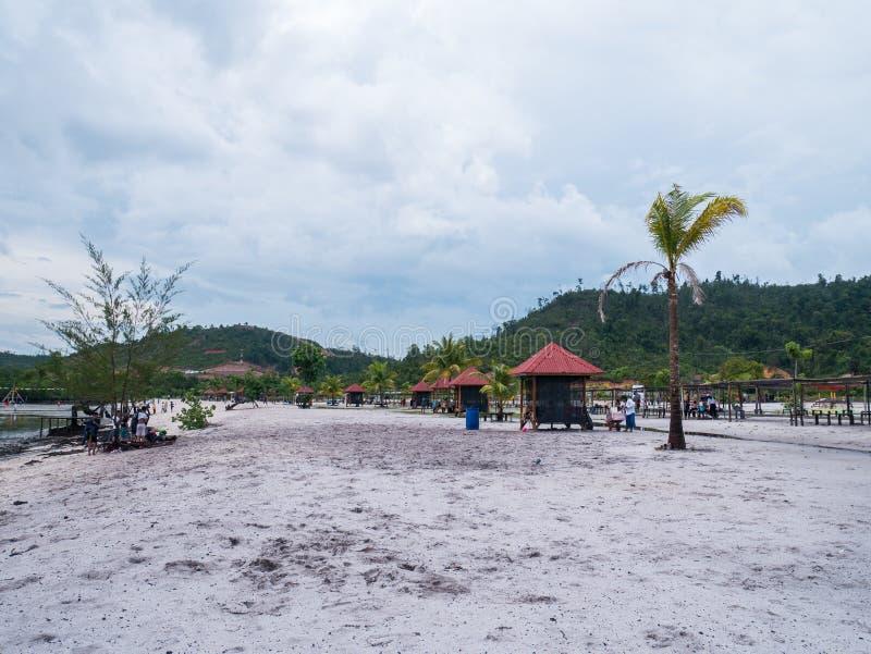 Playa de Viovio en Batam, Indonesia fotografía de archivo