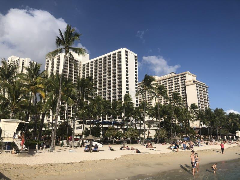 Playa de Waikiki foto de archivo