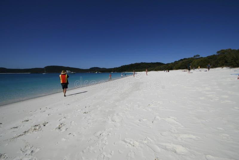Playa de Whitehaven fotografía de archivo