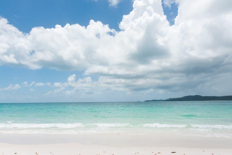 Playa de Whitehaven, isla del Pentecostés, Queensland, Australia imágenes de archivo libres de regalías