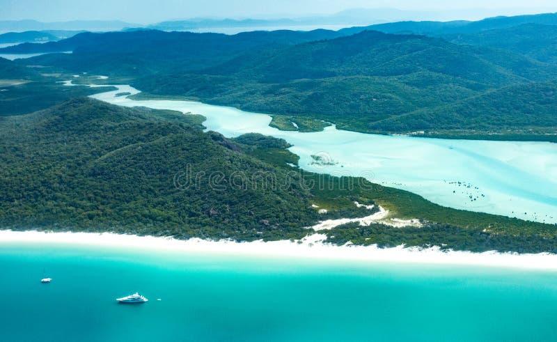 Playa de Whitehaven, Queensland foto de archivo libre de regalías