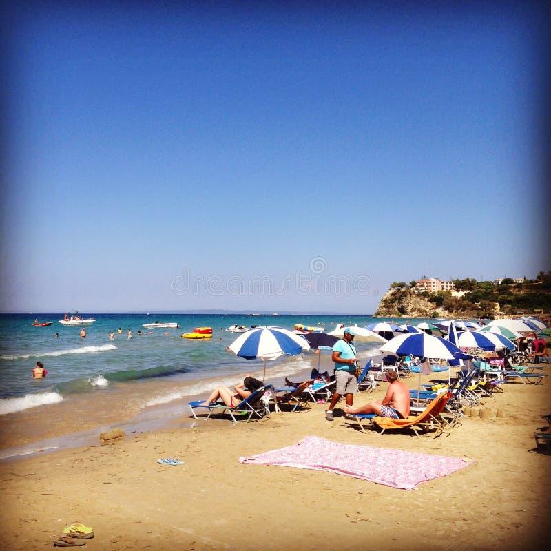 Playa de Zakinthos imágenes de archivo libres de regalías