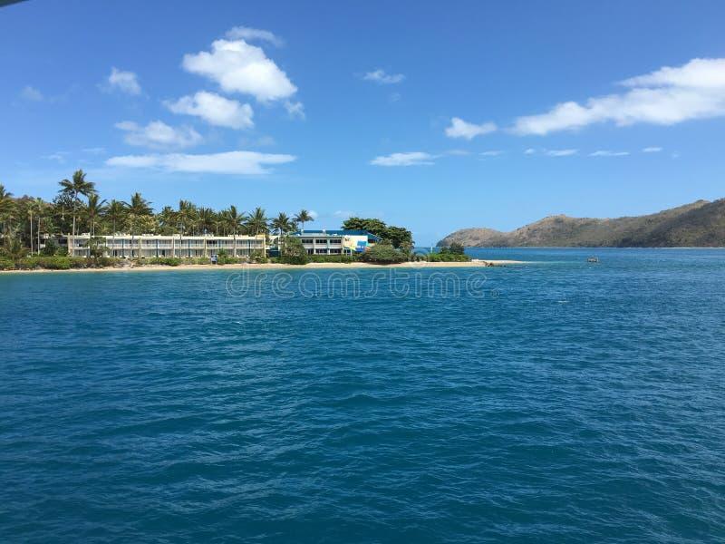 playa del airlie de la isla del ensueño imagen de archivo libre de regalías