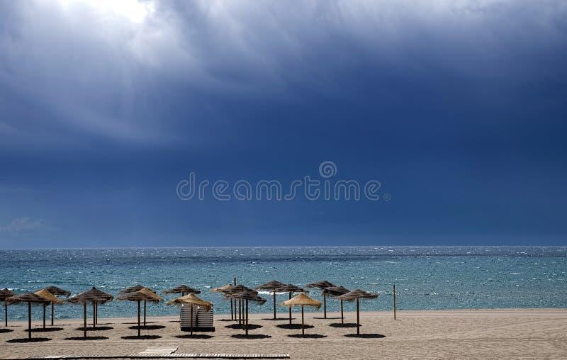 Playa del Ancon, Marbella fotos de archivo