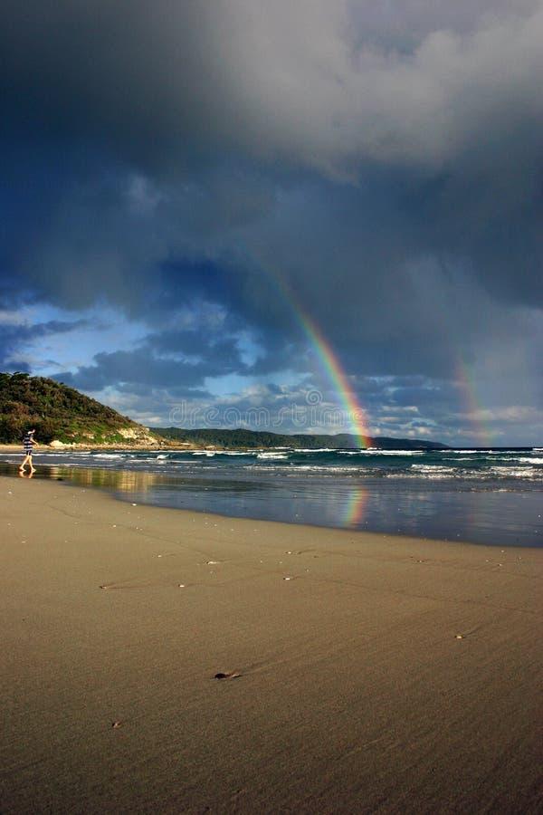 Playa del arco iris imagen de archivo