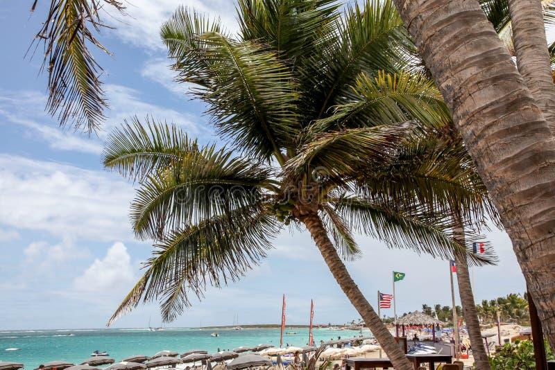Playa del bikini en área de la bahía de Oriente (Baie Orientale) imagen de archivo libre de regalías