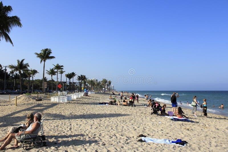 Playa del bulevar de la salida del sol fotos de archivo libres de regalías