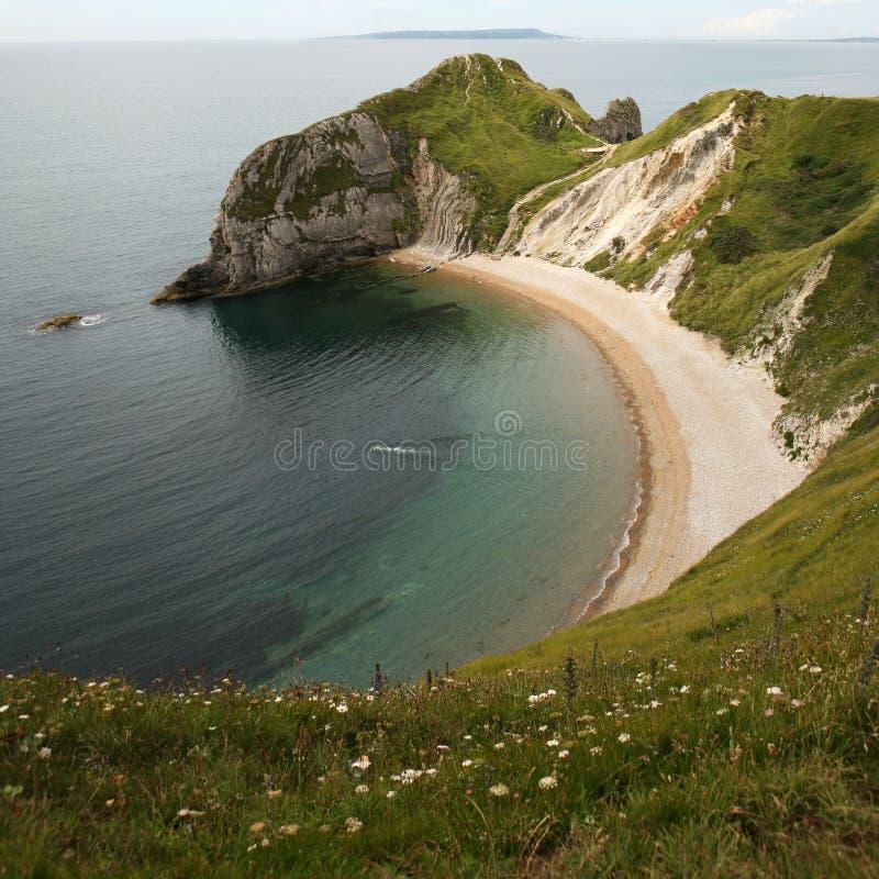 Playa del buque de guerra - Dorset Reino Unido imagen de archivo libre de regalías